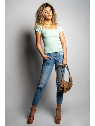 Jeans baggy froncé Damya