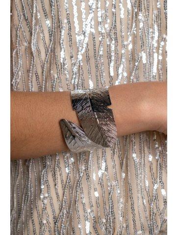 Bracelet Plume En Acier Manola