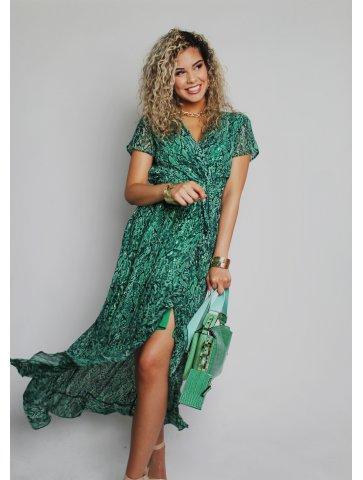 Longue robe cache coeur Morena