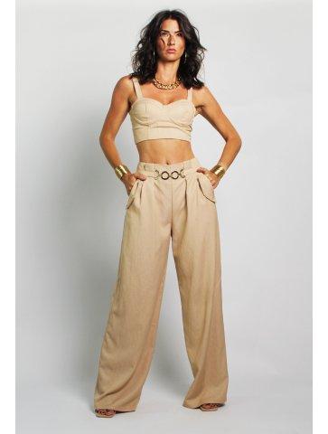 Pantalon taille haute Muriel