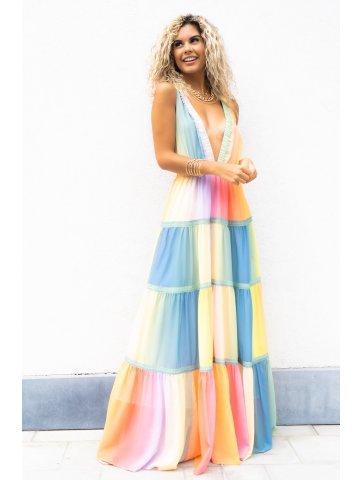 Longue Robe Colorée Louisa