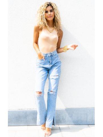 Jeans Avec Fentes Destroy...