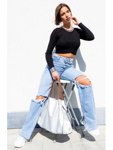 Jeans Taille Haute Déchiré...