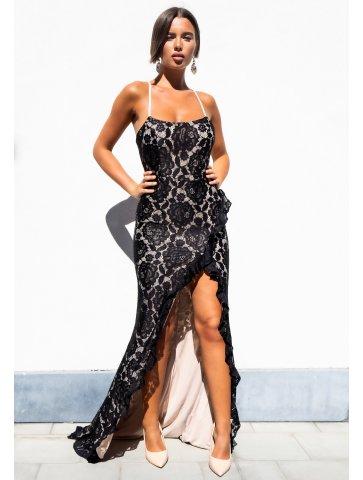 Longue robe à dentelle Alicia