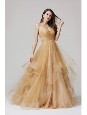 Robe Princesse Tulle Gold