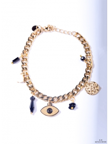 Bracelet Doré Oeil Noir