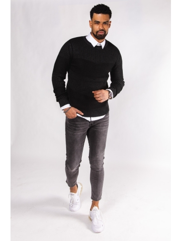 Pull en Maille Col Rond Olivio