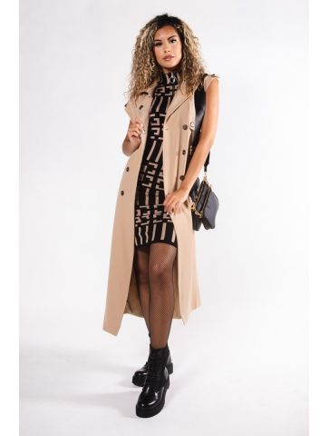 Long trench sans manches Roma