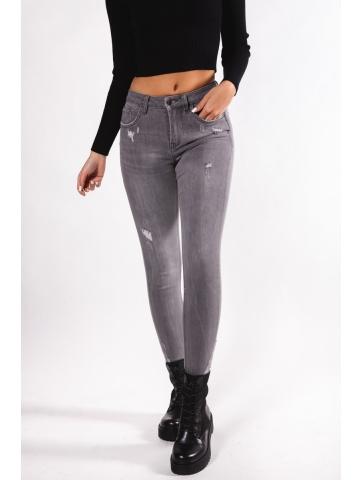 Jeans slim gris déchiré...