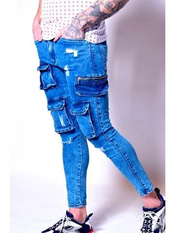 Cargo en jeans destroy Youri