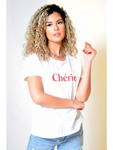 T-shirt col rond Chérie