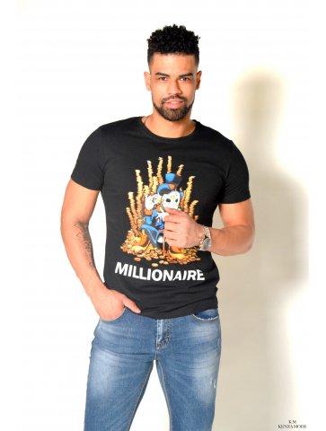 T-shirt col rond Millionnaire