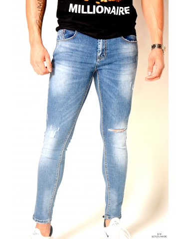 Jeans skinny délavé Fabio