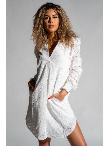 Robe blanche en broderie Lana